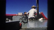 1962: a boat is seen SAN PEDRO, CALIFORNIA Stock Footage