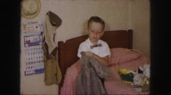1958: a kid is seen AMES, IOWA Stock Footage