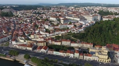 University Of Coimbra old town city aerial view 4k Stock Footage