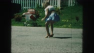 1958: precious baby girl playing dress up AMES, IOWA Stock Footage