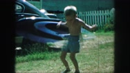 1958: playing with a hula hoop AMES, IOWA Stock Footage