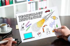 Technology innovation concept on a paper Stock Photos