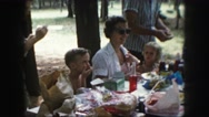 1958: a family is seen going on a trip with a small child AMES, IOWA Stock Footage