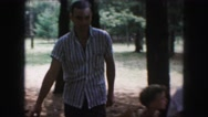1958: a forest area is seen AMES, IOWA Stock Footage