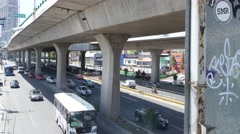 Mexico City CDMX shot of Periferico bussy street traffic in urban highway Stock Footage
