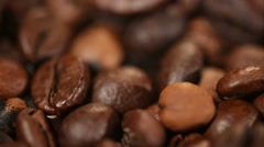 Light roasted coffee beans, delightful aroma of bittersweet drink, selected sort Stock Footage