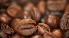 High quality of select roasted coffee beans, popular energy boosting drink Stock Footage