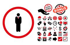 Manager Flat Vector Icon with Bonus Stock Illustration