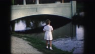 1958: feeding the ducks AMES, IOWA Stock Footage