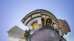 Little Tiny Planet 360 Degree, Synagogue Kiev .tour to Ukraine. Sights of Kiev. Stock Footage