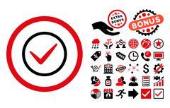 Ok Flat Vector Icon with Bonus Stock Illustration