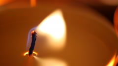 Candle flame affected by strong wind, facing problems, fight to overcome problem Stock Footage