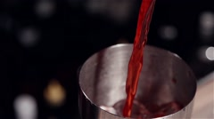 The making of the cocktail in slow motion Stock Footage
