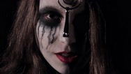 Halloween scary horror woman casting a spell Stock Footage