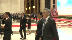 Lee Hsien Loong Singapore Stock Footage