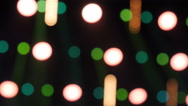 Blurry focus of colorful ray light in the background of stage Stock Footage
