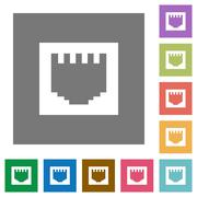 Ethernet connector square flat icons Stock Illustration