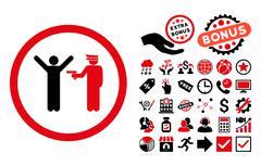 Police Arrest Flat Vector Icon with Bonus Stock Illustration