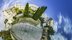 Little Tiny Planet 360 Degree. Gorodetsky House in Kiev. Tour to Ukraine Sights Stock Footage