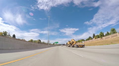 POV point of view - Driving on interstate highway. Stock Footage