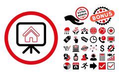 Project Slideshow Flat Vector Icon with Bonus Stock Illustration