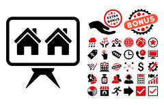 Realty Project Flat Vector Icon with Bonus Stock Illustration