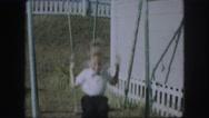 1958: a swing scene is seen AMES, IOWA Stock Footage