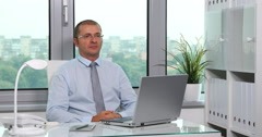 Trustful Corporate Businessperson Job Looking Interview Workplace Office Company Stock Footage
