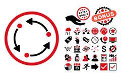 Rotate Flat Vector Icon with Bonus Stock Illustration