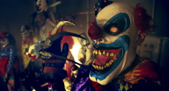 Halloween party horror clowns. Stock Footage
