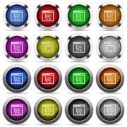 Webshop application glossy button set Stock Illustration