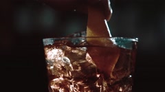 Making of the cocktail in slow motion Stock Footage