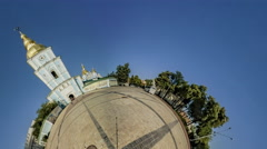 Little Tiny Planet 360 Degree, Michael's Square Stock Footage