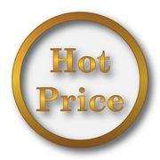 Hot price icon. Internet button on white background.. Stock Illustration