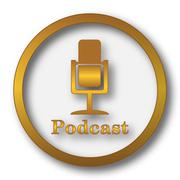 Podcast icon. Internet button on white background.. Piirros