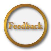 Feedback icon. Internet button on white background.. Stock Illustration