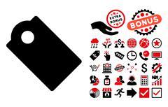 Tag Flat Vector Icon with Bonus Piirros