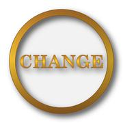 Change icon. Internet button on white background.. Stock Illustration