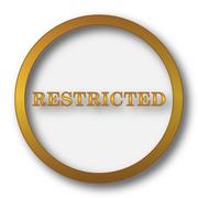 Restricted icon. Internet button on white background.. Stock Illustration
