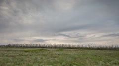 The movement of the thunderclouds over the fields of winter wheat Stock Footage