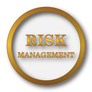 Risk management icon. Internet button on white background.. Piirros