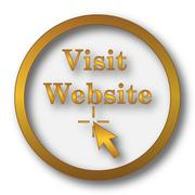 Visit website icon. Internet button on white background.. Stock Illustration