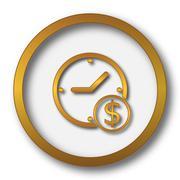 Time is money icon. Internet button on white background.. Stock Illustration