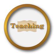 Teaching icon. Internet button on white background.. Stock Illustration
