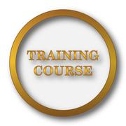 Training course icon. Internet button on white background.. Stock Illustration