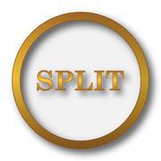 Split icon. Internet button on white background.. Stock Illustration