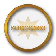 Surprise icon. Internet button on white background.. Stock Illustration