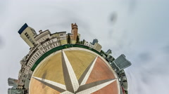Little Tiny Planet 360 Degree,kiev.trinity Square Stock Footage