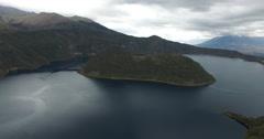 The Cuicocha lake in Ecuador - Collapsed Volcano Stock Footage