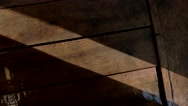 Wet wooden planks. Stock Footage